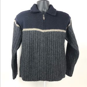 J Crew Sweater Mens Gray 1/4 Zip Pullover